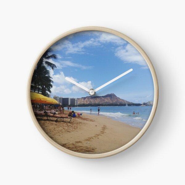 Waikiki view of Diamondhead Clock
