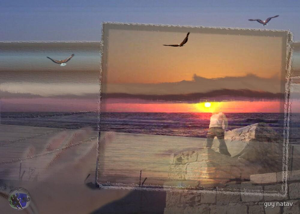 sunsets I by guy natav