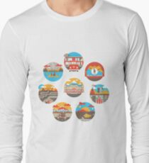 Wes Anderson Films Icon Illustrations Long Sleeve T-Shirt