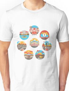 Wes Anderson Films Icon Illustrations Unisex T-Shirt