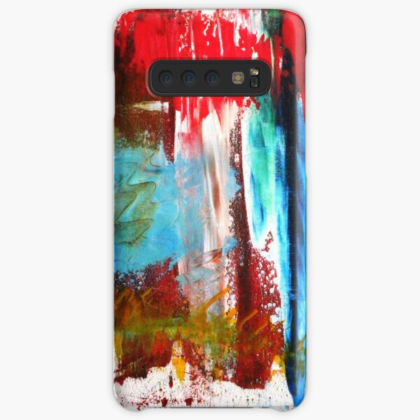 Abstract Work in Red Samsung Galaxy Snap Case