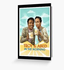 troy and abed - I strive for two things in design: simplicity and clarity. Greeting Card