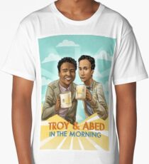 troy and abed - I strive for two things in design: simplicity and clarity. Long T-Shirt