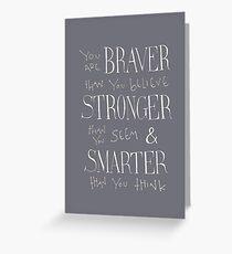 Du bist mutiger Grußkarte