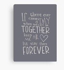 Lienzo Juntos para siempre