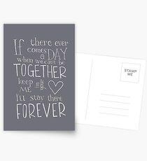 Für immer zusammen Postkarten