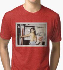 Dua Lipa Polaroid  Tri-blend T-Shirt