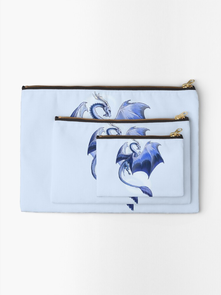 Alternate view of The Dragon of Winter Zipper Pouch