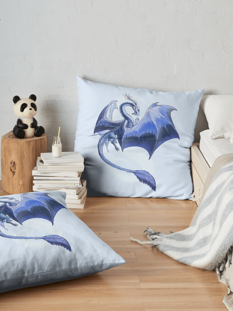 Alternate view of The Dragon of Winter Floor Pillow
