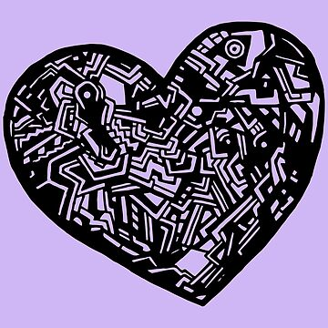 Geometric Solid Heart_Black_FLC by lisa-richmond