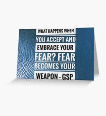 GSP quote Greeting Card