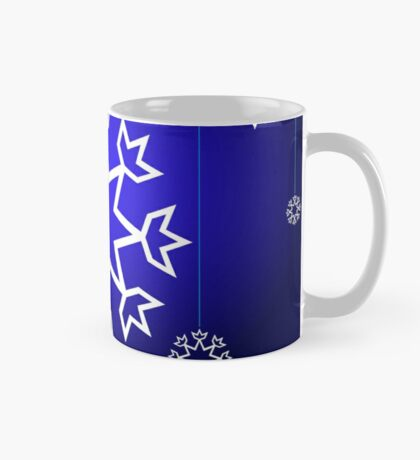 Native American Xmas snowflake on blue background tipi Mug