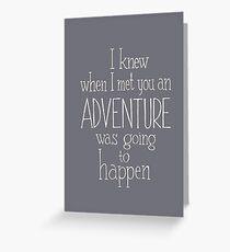 Abenteuer Grußkarte