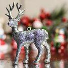 Glitter Deer Christmas  by Adam Calaitzis