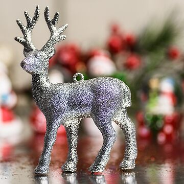 Glitter Deer Christmas  by adamcal