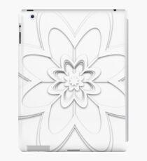 Paper cutout flower design iPad Case/Skin