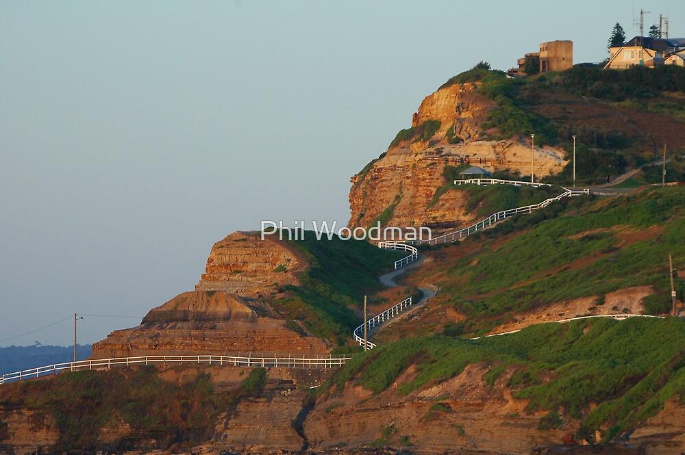 Cliff Walk - Newcastle Beach NSW by Phil Woodman
