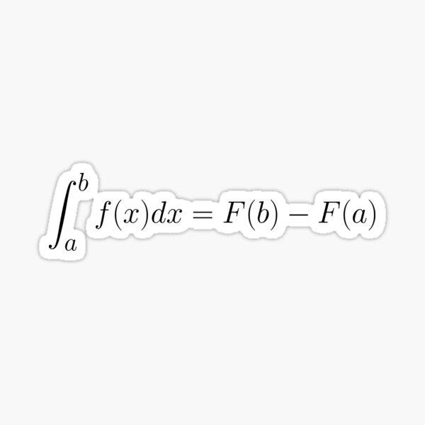Fundamental Theorem of Calculus Corollary Sticker