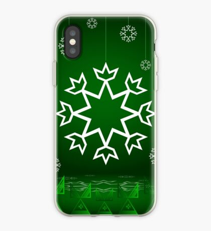 Green Xmas Snowflake with Tipi iPhone Case