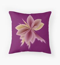 Fleur Gradient v1 in Old Rose Pink and Mauve Throw Pillow