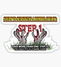 Zombie Survival Tips Sticker