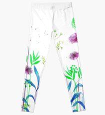 Flowerbed purple Leggings