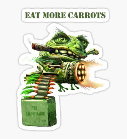 Eat More Carrots Sticker