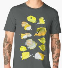 Butterflyfish of the tropical Pacific Men's Premium T-Shirt