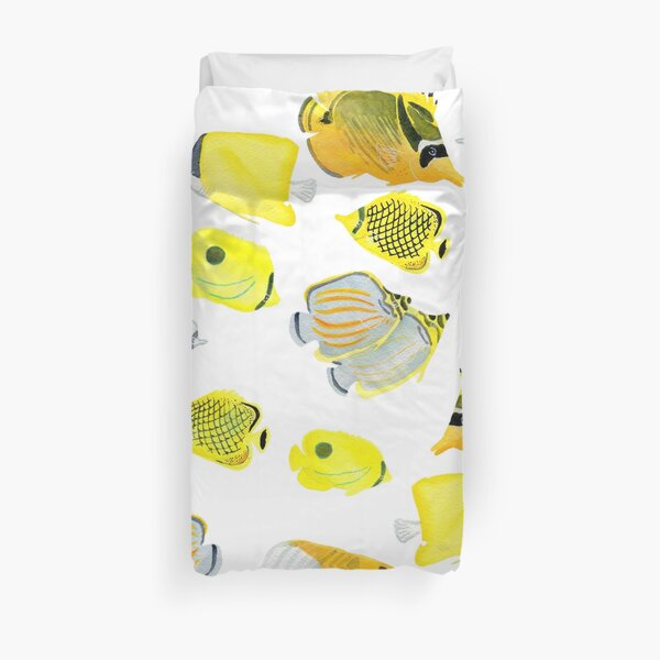 Butterflyfish of the tropical Pacific Duvet Cover