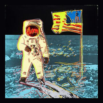 Andy Warhol Space Moon Astronaut Space Walk Poster by bernys