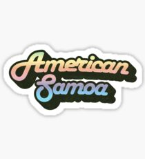 American Samoa National Park | Retro Streamline Sticker