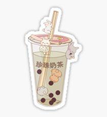 bubble tea & boba bunnies Sticker