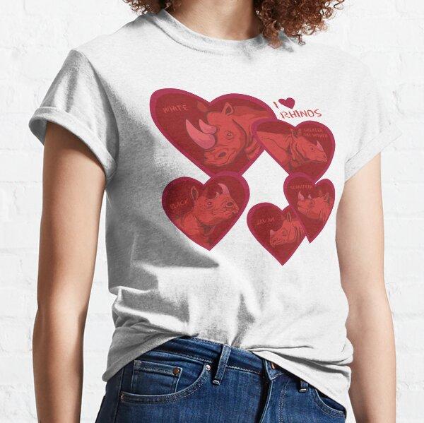 Love Rhinos - multiple species Classic T-Shirt