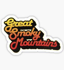 Great Smoky Mountains National Park | Retro Streamline Sticker