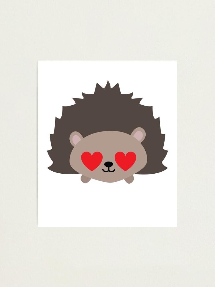 """Porcupine Emoji "" Photographic Print by HippoEmo | Redbubble"