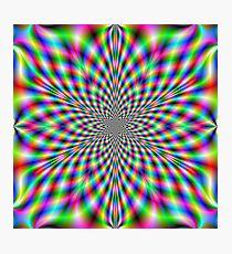 Neon Psychedelic Photographic Print