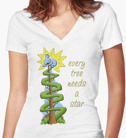 Every Tree Needs a (Koala) Star Fitted V-Neck T-Shirt