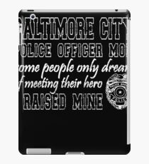 Baltimore City Police Mom Tshirt Proud Police Mom Gifts iPad Case/Skin