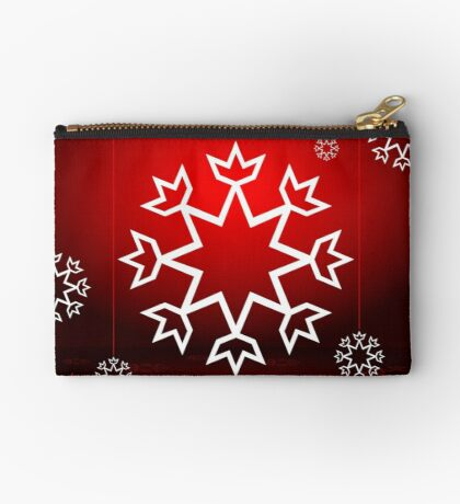 Red Xmas Snowflake design Studio Pouch