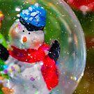 Christmas snowman in a snowglobe by Adam Calaitzis