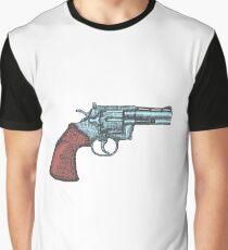 Hand Drawn Vintage Revolver Gun. Firearm, pistol sketch Graphic T-Shirt