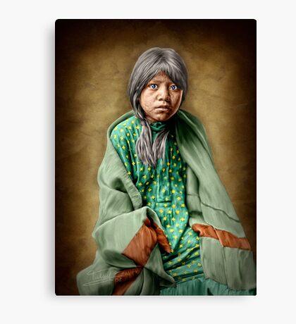 A Taos girl Canvas Print