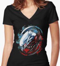 Yu-Yin-Yang-Oh! Women's Fitted V-Neck T-Shirt