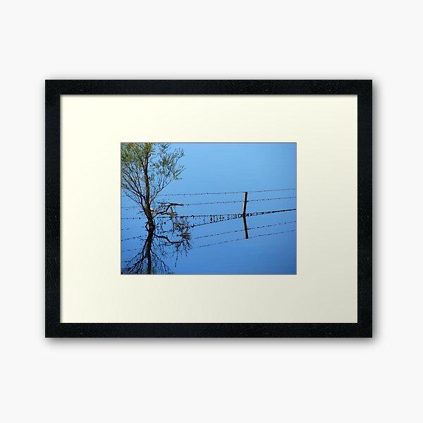 Fence Flow Framed Art Print