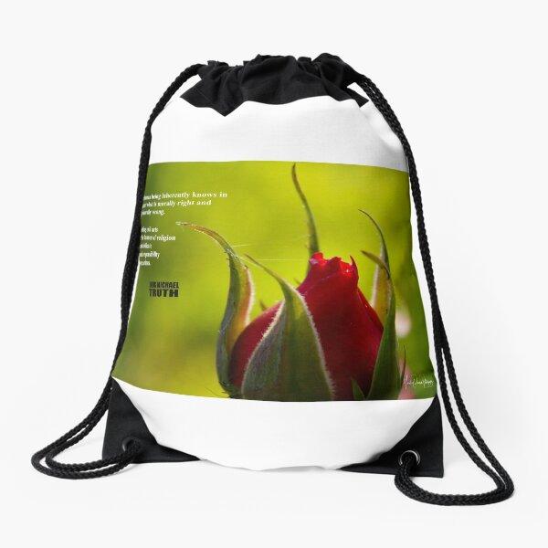 A True Human Being Drawstring Bag