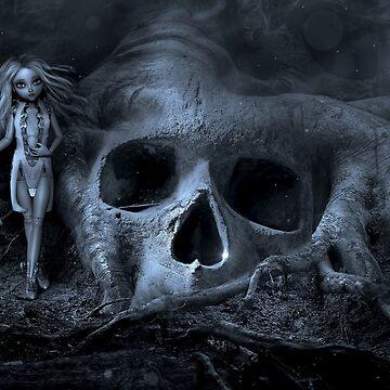 Fantasy Scary Evil Skull by AjHound