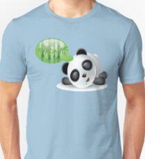 Cute Funny Humor Bamboo Tree Dreaming Sleeping Panda  Unisex T-Shirt