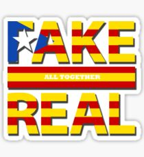 Fake and Real, All together Sticker