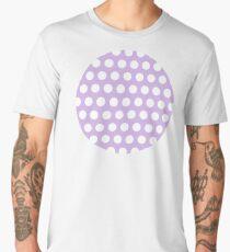 dots, pastel violet and white Men's Premium T-Shirt