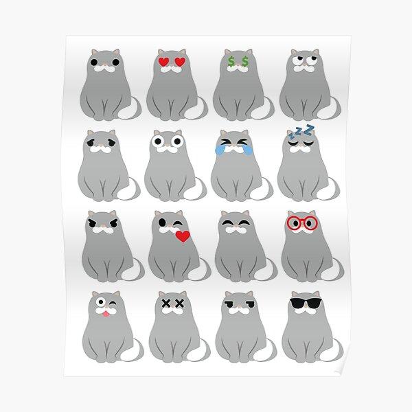 Grey Seal Emoji   Poster